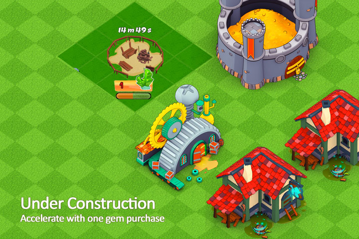 Under Construction Mobile Game Building Example